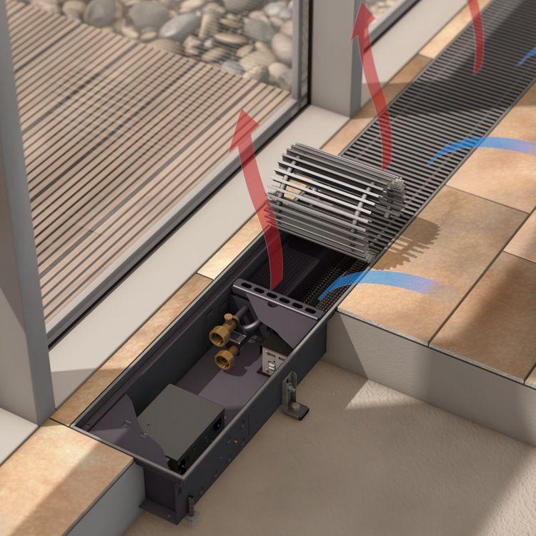 Отопительный прибор - внутрипольный покнвектор