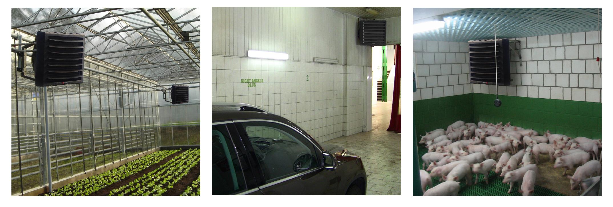 Отопление теплиц, свинарников, авто моек воздушно отоплительными агрегатами